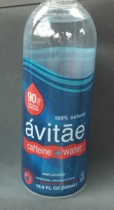 caffeine water natural label