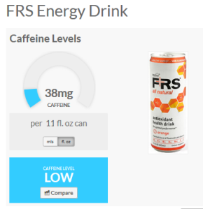 Caffeine Informer FRS Healthy Energy