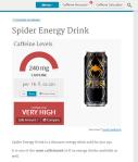 From: http://www.caffeineinformer.com/caffeine-content/spider-energy-drink