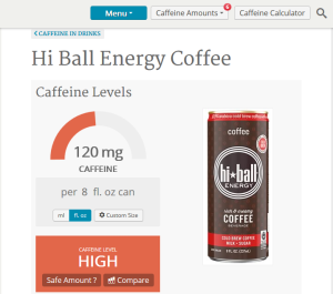 Caffeine Informer on HiBall
