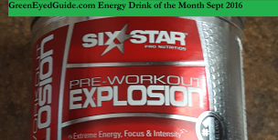 Sept 2016 Energy Drink of the Month