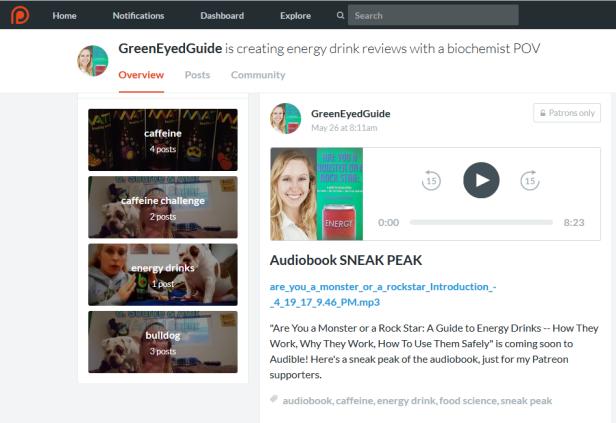 Audiobook Sneak Peak on Patreon