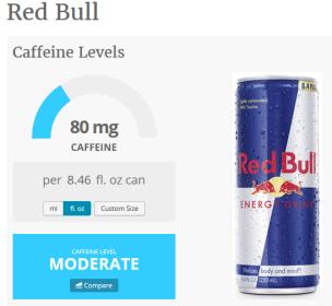 caffeine in red bull