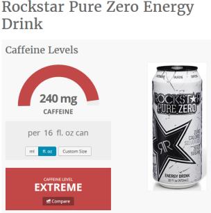 rockstar zero caffeine